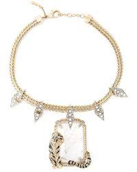 Roberto Cavalli - Metallic Swarovski Crystal Chain Necklace - Lyst