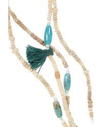 Isabel Marant - Metallic Set Of Two Ceramic Bead, Bone And Turquoise Necklaces - Lyst
