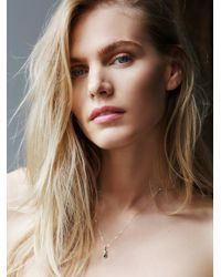 Free People | Metallic Blair Lauren Brown Womens Raw Diamond Drop Necklace | Lyst
