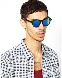 ASOS   Preppy Wayfarer Sunglasses in Matt Green with Colour Mirror Lens for Men   Lyst