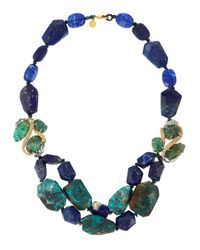 Alexis Bittar | Blue Mixed-Bead Layered Statement Necklace for Men | Lyst