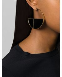 Aurelie Bidermann | Black 'bianca' Reversible Onyx Hoop Earrings | Lyst