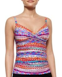 Gottex - Multicolor Santa Fe Twist Tankini Top - Lyst