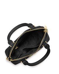 MICHAEL Michael Kors   Black Sloan Small Pythonembossed Shoulder Bag   Lyst