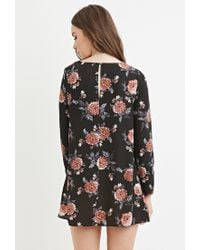 Forever 21 - Purple Floral Smock Dress - Lyst