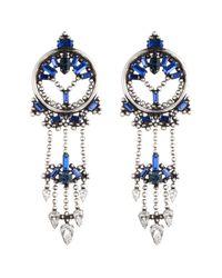 DANNIJO - Blue Claudia Earrings - Lyst