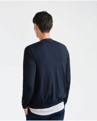 Zara | Blue Cotton Cardigan for Men | Lyst