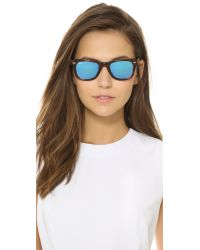 Ray-Ban | Blue Icons Wayfarer Sunglasses - Havana Striped/silver Mirror | Lyst