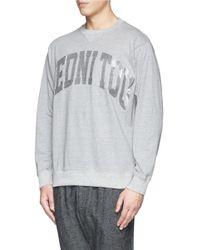 Sacai - Gray Reverse 'inside Out' Slogan Sweatshirt for Men - Lyst