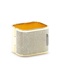 Vince Camuto - Metallic Crystal Square Hinge Cuff - Lyst