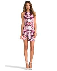 Nicholas - Rose Reflect Denim Dress in Pink - Lyst