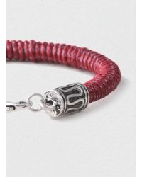 TOPMAN - Red Wrapped Rondall Bracelet* for Men - Lyst