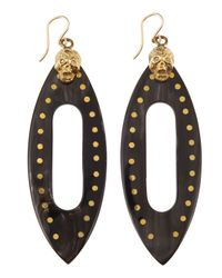 Ashley Pittman | Metallic Fuvu Skull Dark Horn Drop Earrings | Lyst