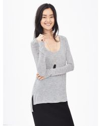 Banana Republic | Gray Modal Scoop-neck Tee | Lyst