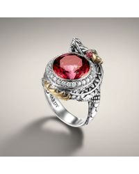 John Hardy - Red Small Dragon Ring - Lyst