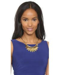 Kate Spade | Metallic Fancy Flock Collar Necklace - Gold | Lyst
