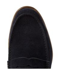 Paul Smith   Blue Casey Penny Suede Loafers for Men   Lyst