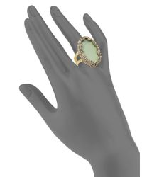 House of Harlow 1960 | Green Tanga Coast Jasper Cocktail Ring | Lyst