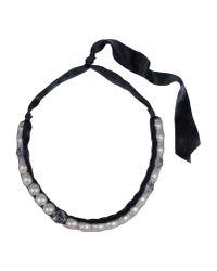 Lanvin   Black Pearl Necklace   Lyst