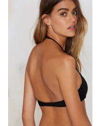 Nasty Gal | Black Paulina Lace Halter Bra | Lyst