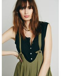Free People - Green Solid Jump On It Jumper - Lyst