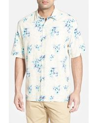 Tommy Bahama - Multicolor 'garden Of Hope And Courage' Original Fit Silk Shirt for Men - Lyst