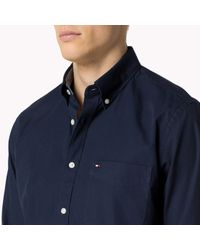 Tommy Hilfiger | Blue Cotton Fitted Shirt for Men | Lyst