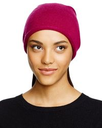 C By Bloomingdale's - Red Cashmere Angelina Slouchy Hat - Lyst