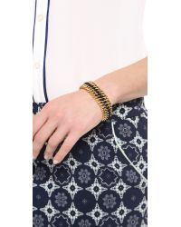Bex Rox - Metallic Lola Cuff Bracelet Goldblack - Lyst