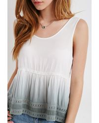 Forever 21 | Natural Dip-dyed Babydoll Top | Lyst