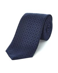 HUGO | Purple Patterned Tie for Men | Lyst