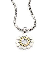 John Hardy - 18k Yellow Gold Sterling Silver Dot Drop Enhancer - Lyst