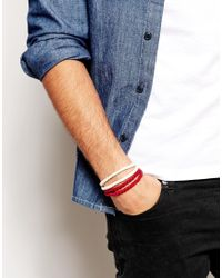 ASOS - Natural Rope Bracelet Pack for Men - Lyst