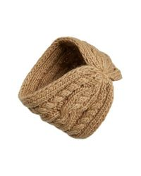 MICHAEL Michael Kors - Brown Cable Knit Headband - Lyst