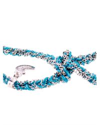 Carolina Bucci - Blue Gold & Silk Braided Lucky Bracelet - Lyst