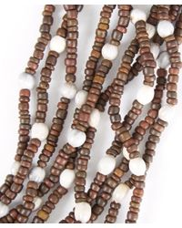 Eskandar - Brown Multi-strand Coconut Bead Necklace - Lyst