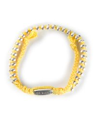 Paul Smith | Yellow Doubled Beaded Bracelet for Men | Lyst