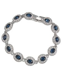 Carolee | Blue Oval Crystal And Glass Stone Bracelet | Lyst