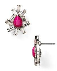 Aqua - Metallic Mini Cluster Earrings - Lyst