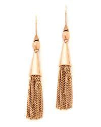 Eddie Borgo | Metallic Small Chain Tassel Earrings Rose Gold | Lyst