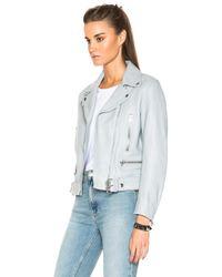 Acne Studios   Gray Mock Leather Jacket   Lyst