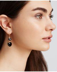 Ann Taylor - Black Faceted Crystal Drop Earrings - Lyst