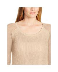 Ralph Lauren | Brown Linen-cotton Mesh Sweater | Lyst