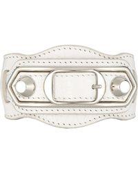 Balenciaga - Metallic Edge Bracelet-White Size M - Lyst