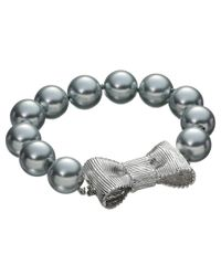 kate spade new york | Metallic All Wrapped Up Pearls Bracelet | Lyst