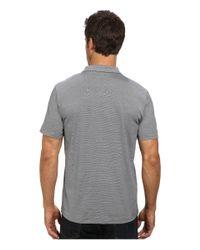Calvin Klein - Black End On End Stripe Polo for Men - Lyst