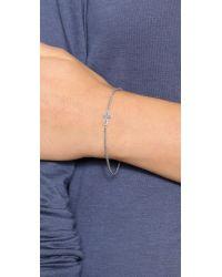 Chan Luu - Metallic Diamond Cross Bracelet - Silver - Lyst