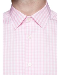 Paul Smith - Pink Gingham Check Poplin Shirt for Men - Lyst