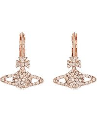 Vivienne Westwood - Metallic Grace Bas Relief Earrings, Women's, Silk/pink Gold - Lyst