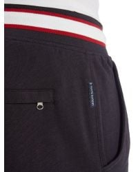 Armani Jeans | Blue Drawstring Jersey Short With Contrast Waistband for Men | Lyst